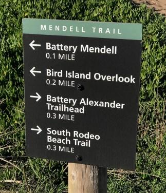 Mendell Trail Sign