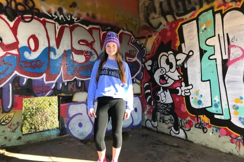 Natalie Bourn Inside an Abandoned Building at Fort Barry