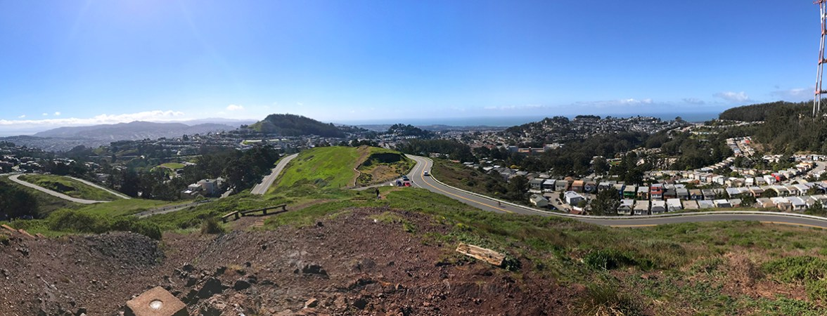 Panoramic View From Twin Peaks South Peak Summit