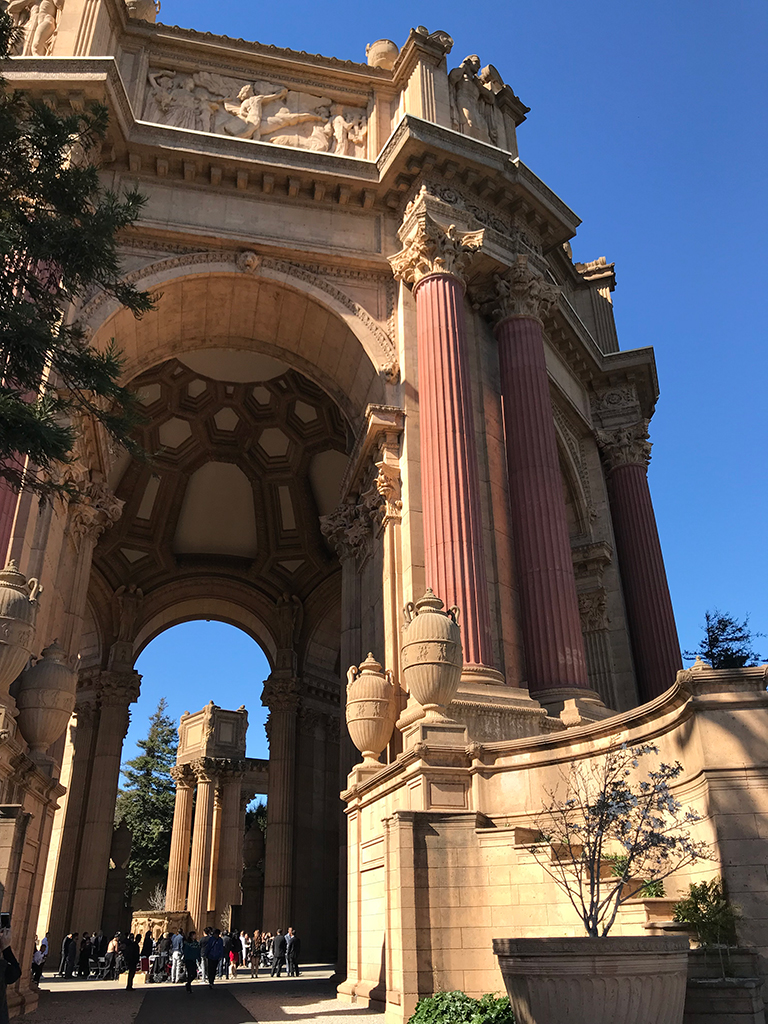 The Palace Of Fine Arts In The Marina District Of San