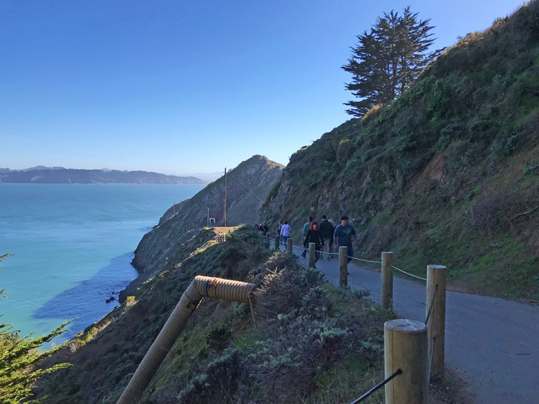 Trail to Point Bonita Lighthouse