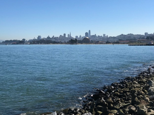 Views of Downtown San Francisco From The Torpedo Wharf Pier