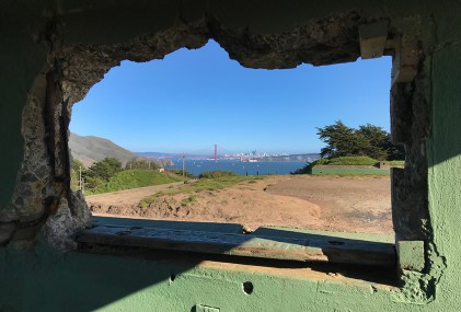 View Of The Golden Gate Bridge From Battery Mendell