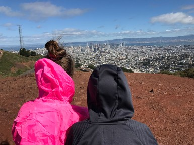 Natalie and Carter Bourn Looking at Downtown San Francisco From Twin Peaks