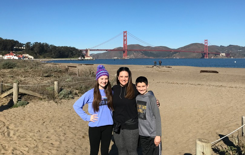 View of the Golden gate Bridge From The Crissy Field Bay Trail