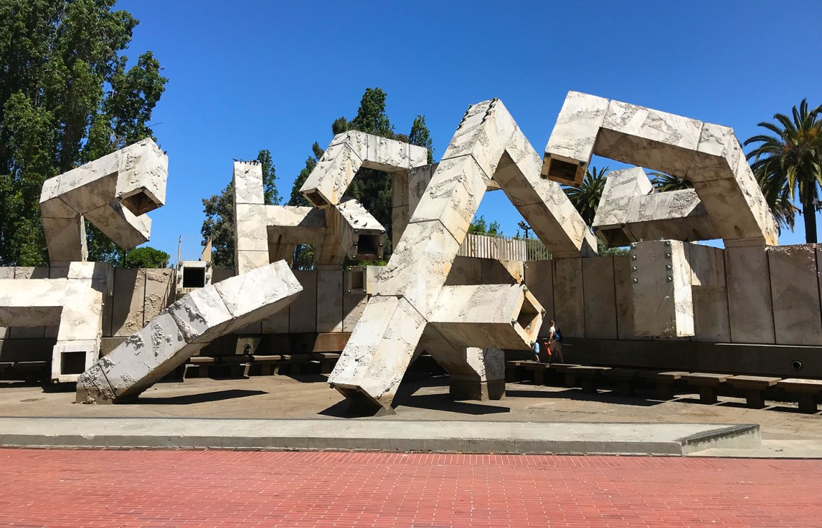 Vaillancourt Fountain at Embarcadero Plaza in San Francisco 2018