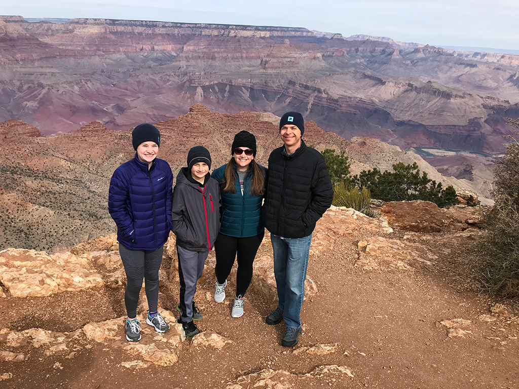 Bourn Family at Desert View Point