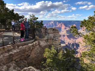 Brian, Natalie, and Carter Bourn at Mather Point