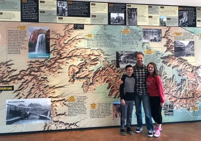 Carter, Brian, and Natalie Bourn at the National Geographic Grand Canyon Visitor Center