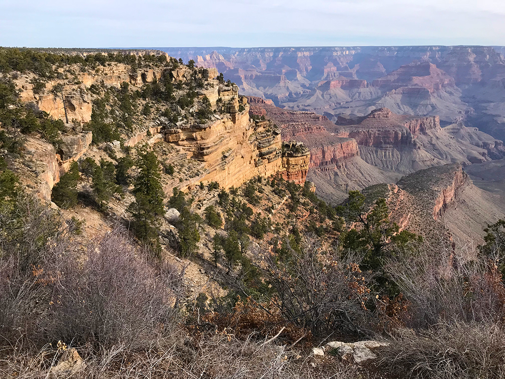 Grand Canyon Views From Desert View Drive Pullout