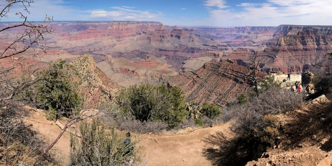 View of the Grand Canyon from the top of the Grandview Trail