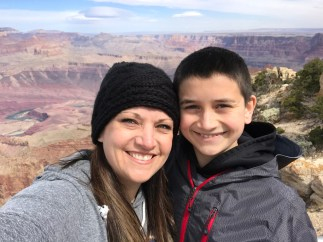 Jennifer and Carter Bourn at Lipan Point in Grand Canyon