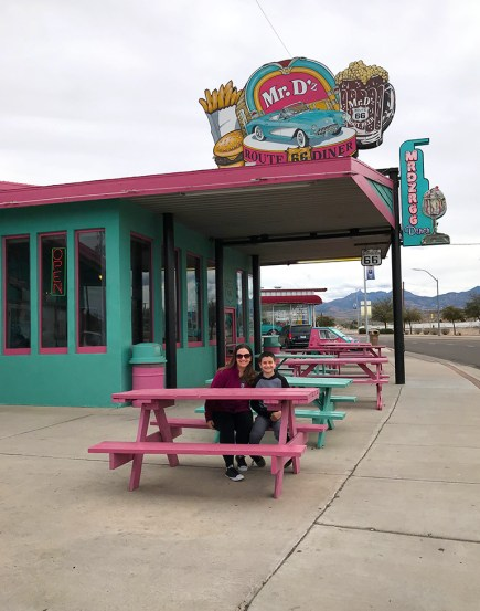 Jennifer and Carter Bourn at Mr. D'z Route 66 Diner