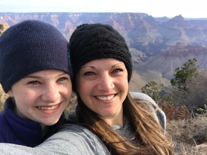 Natalie and Jennifer Bourn At A Desert View Drive Roadside Pullout