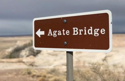 Agate Bridge Trail Sign