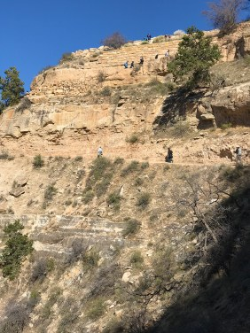 The Beginning of Bright Angel Trail in Grand Canyon Village