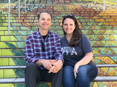 Brian and Jennifer Bourn at the Lincoln Park Steps