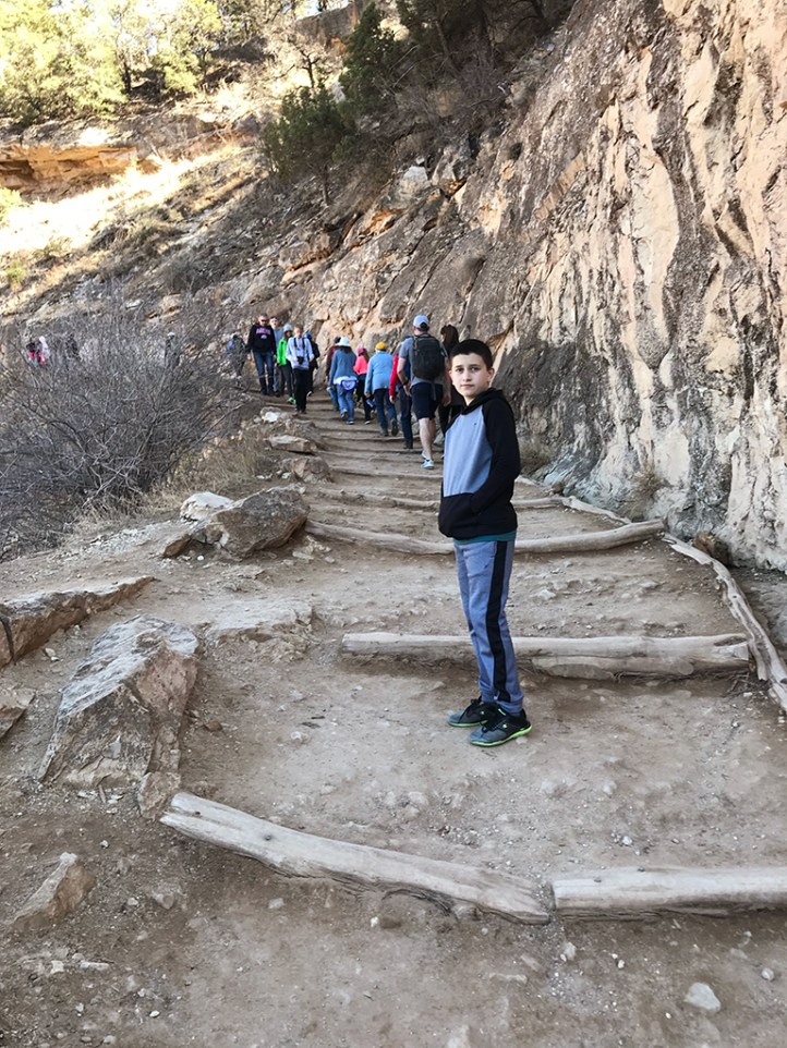 Carter Bourn on Bright Angel Trail