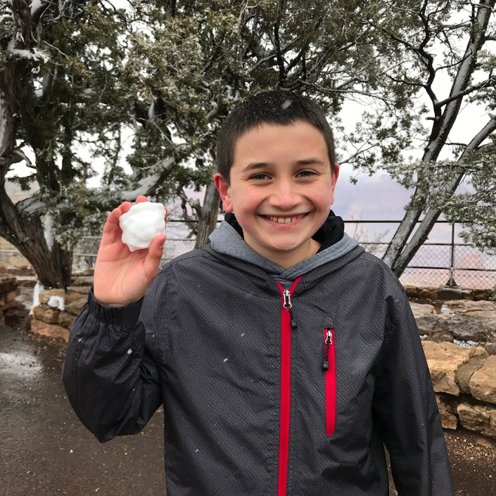 Carter Bourn Making Grand Canyon Snowballs