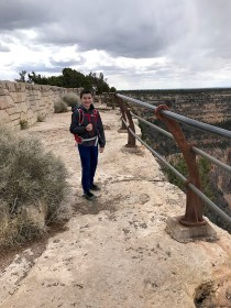 Carter Bourn Hiking the Canyon Rim Trail