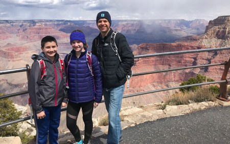 Carter, Natalie, and Brian Bourn at Pima Point
