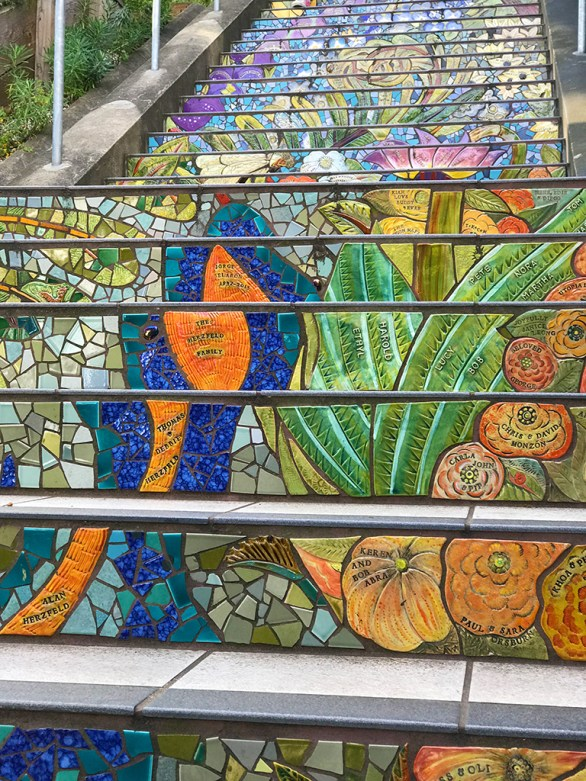 Hidden Garden Mosaic Tiled Stairs