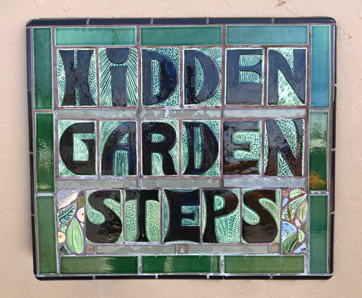 Hidden Garden Steps Sign