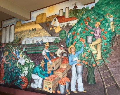 Historic Murals in the Coit Tower Lobby