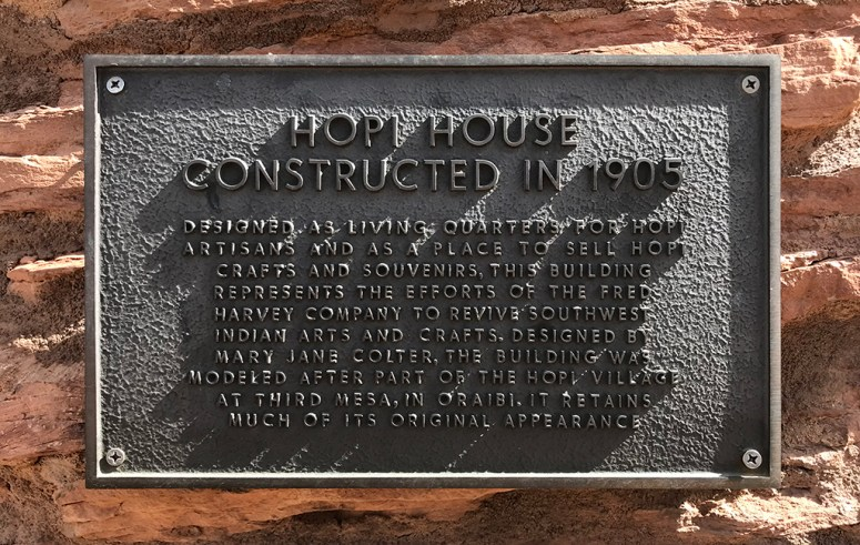 Hopi House Plaque