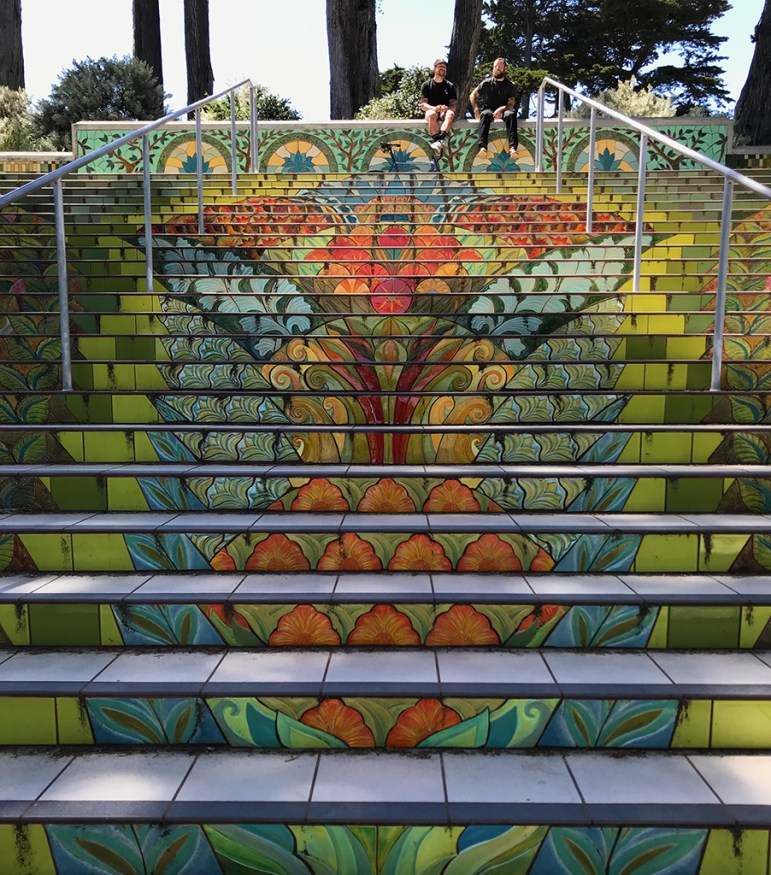 Lincoln Park Tiled Staircase in San Francisco