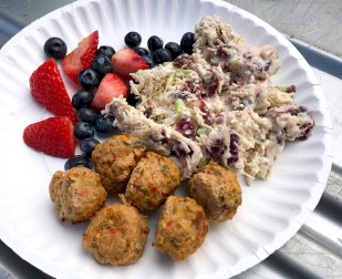 Meatballs, Chicken Salad, And Mixed Berries