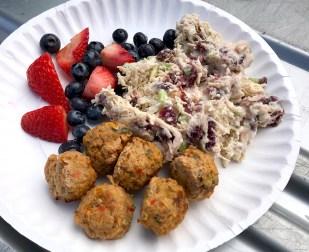 Meatballs, Chicken Salad, And Mixed Berries
