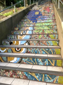 Mosaic Tile Staircase in San Francisco