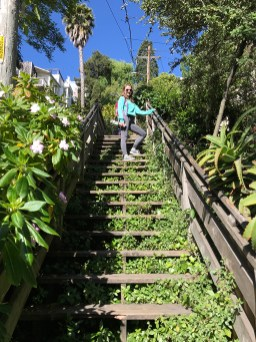 Natalie Bourn Climbing The Filbert Steps