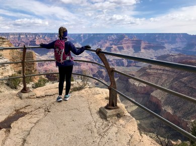 Natalie Bourn at the Trailview Overlook in Grand Canyon National Park
