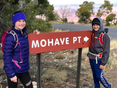 Natalie and Carter Bourn at Mohave Point, Grand Canyon