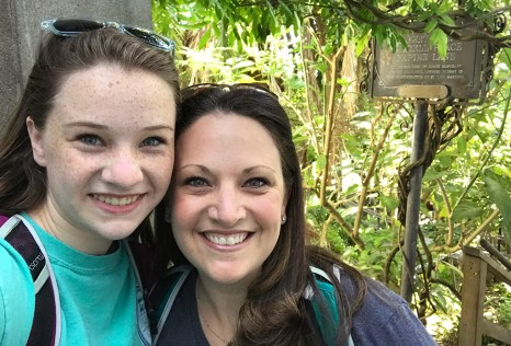 Natalie and Jennifer Bourn on the Filbert Steps