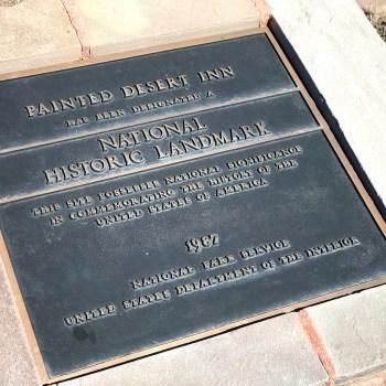 Painted Desert Inn National Historic Landmark Plaque