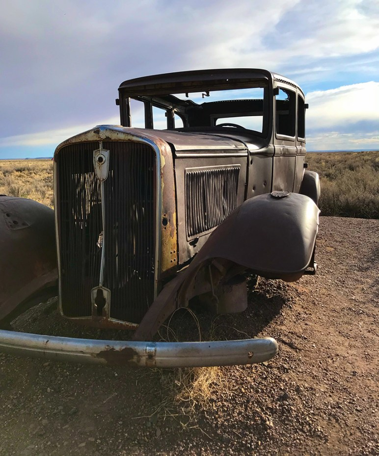 Route 66 Studebaker in the Arizona Desert