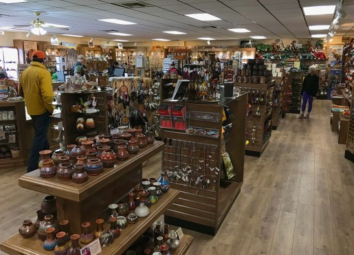 Shop for Souvenirs at Rainbow Forest Curios and Fountain
