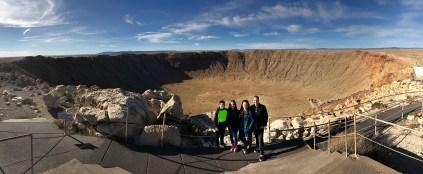 Bourn Family On The Rim of Meteor Crater National Natural Landmark