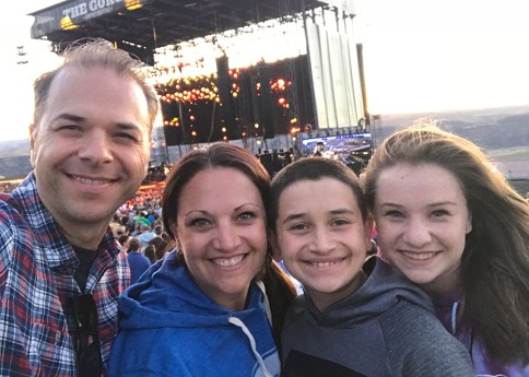 Bourn Family Seeing Dead & Company at The Gorge Amphitheater