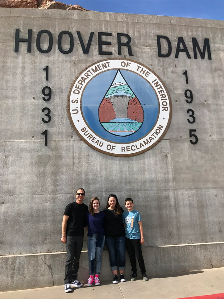 Bourn Family Visiting Hoover Dam