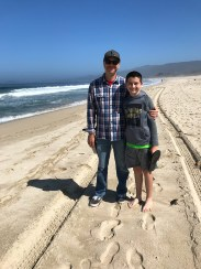 Brian and Carter Bourn in Half Moon Bay