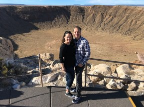 brian and Jennifer Bourn at Meteor Crater
