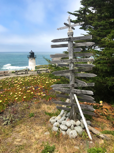 Directional Signpost at the Point Montara Lighthouse