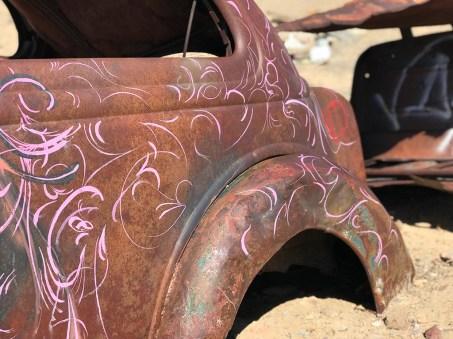 Graffiti Car Graveyard near Goldfield, Nevada