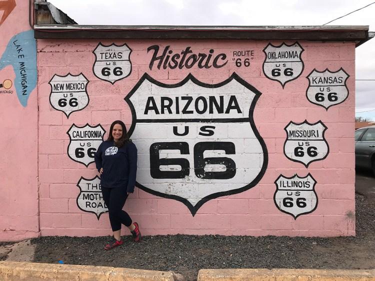 Jennifer Bourn exploring Arizona's Route 66
