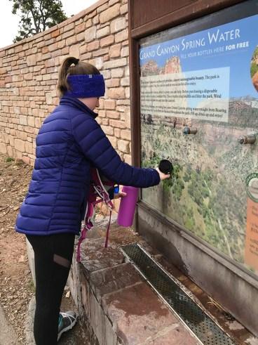 Natalie Bourn at the Water Bottle FIlling Station