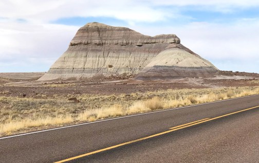 Striped Badlands At Petrified Forest National Park